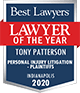 Best Lawyers badge of Tony Patterson. Lawyer of the year.